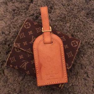 Auth Louis Vuitton Vachetta Leather Luggage Tag 🏷